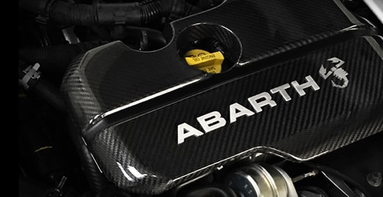 Engine cover of Abarth 124 spider