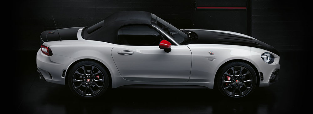 Abarth 124 spider with roof up