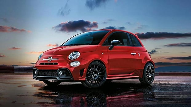 Abarth 595 model in red