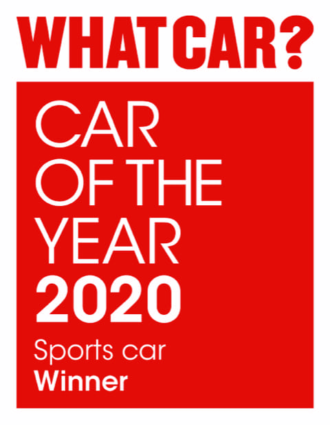 WHATCAR? Logo car of the year 2020 sports car winner