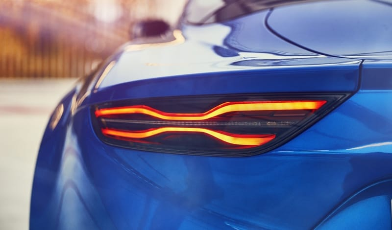 Alpine A110 rear light cluster