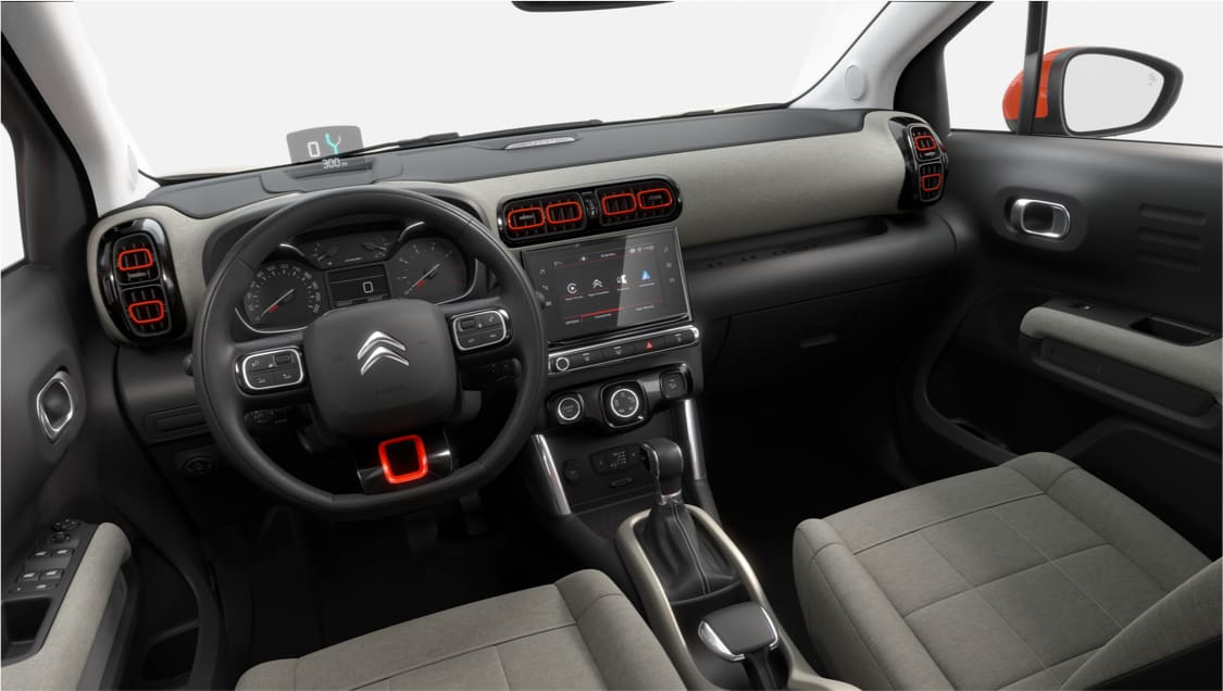 Interior of Citroen C3 Aircross.