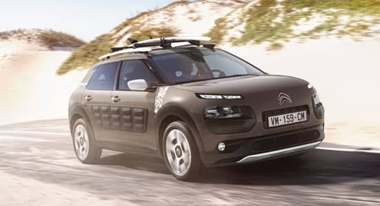 Citroën C4 Cactus Rip Curl driving along a road