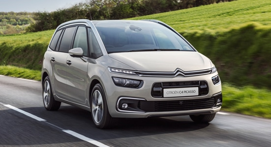 Citroën C4 Picasso driving in the countryside