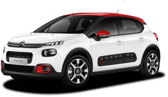 Aerial view of new Citroën C3