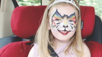 Girl with facepaint on