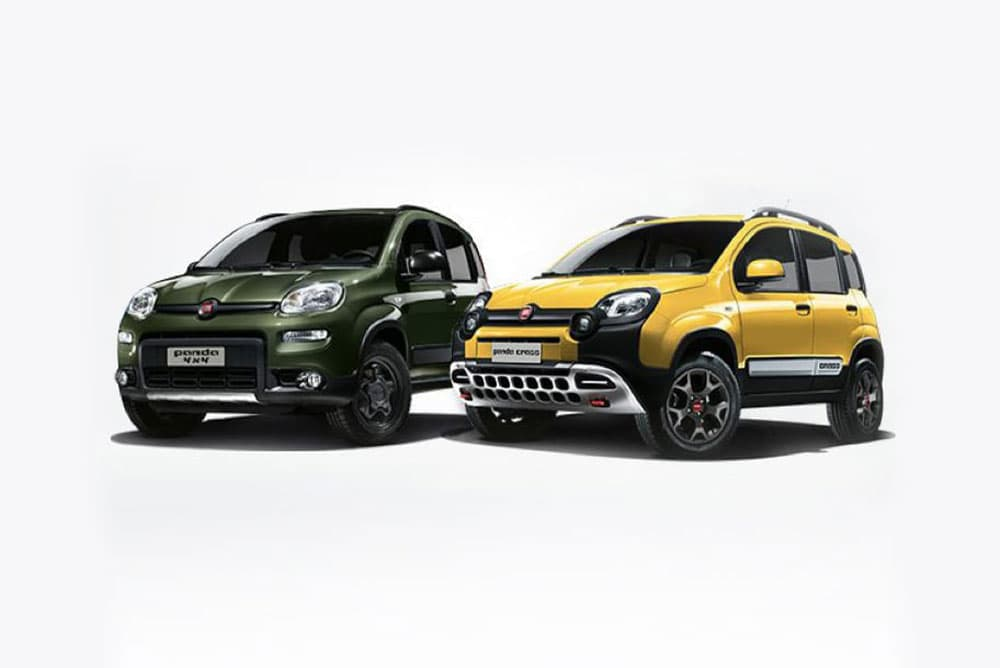 Fiat Panda 4x4 and Lounge Models together