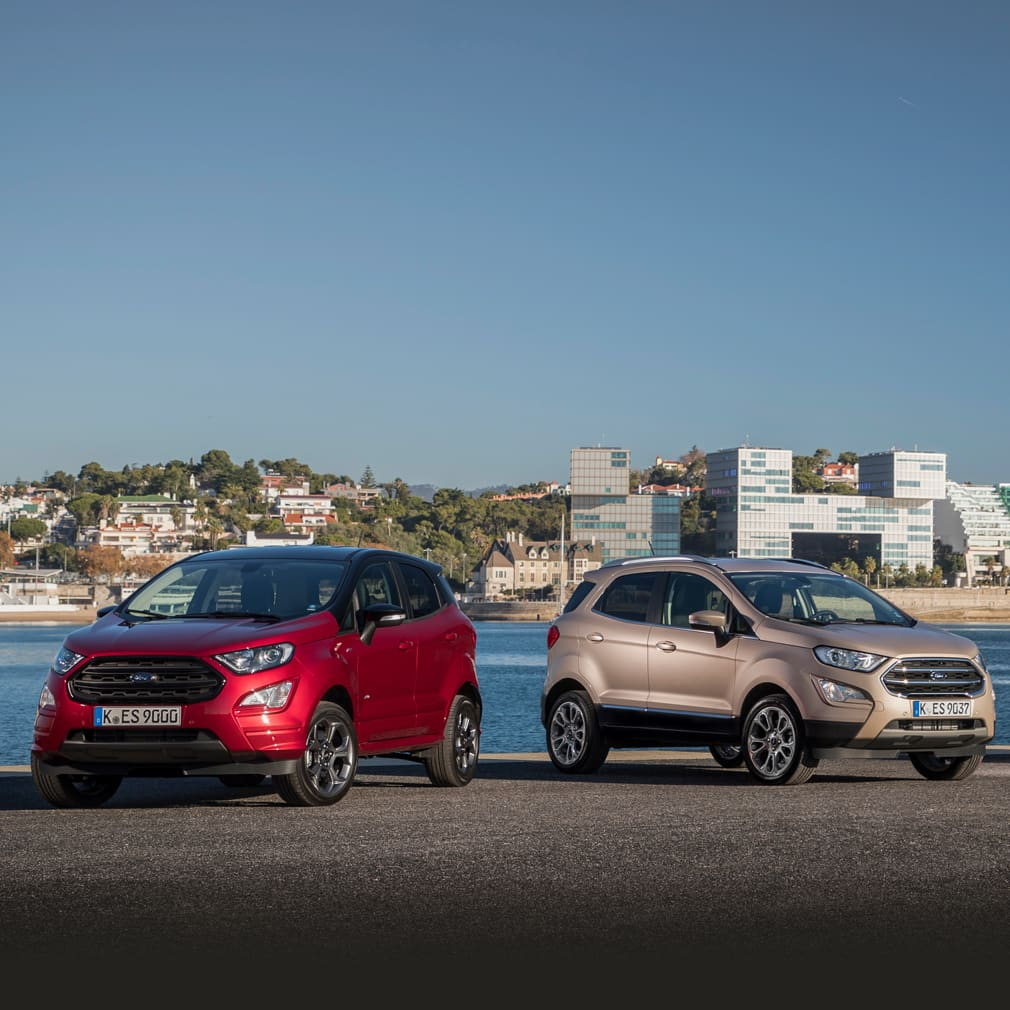New Ford EcoSport Range on a riverside.