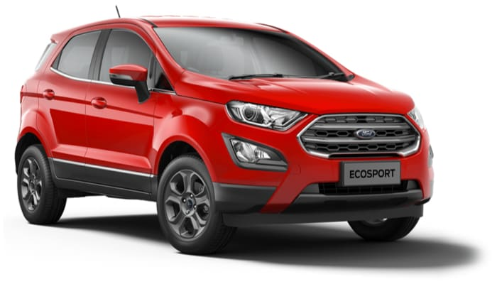 The new Ford EcoSport Zetec model in Race Red.