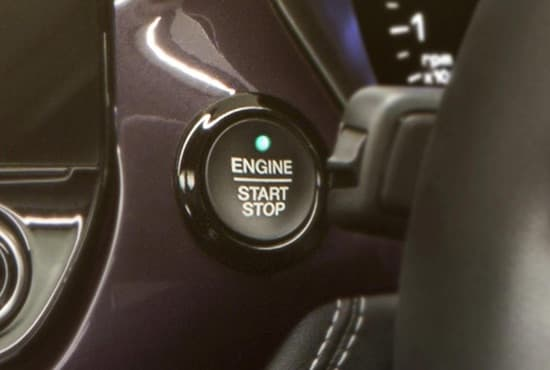 Ford Fiesta start-stop button.