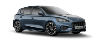 Dark Blue Ford Focus St-Line