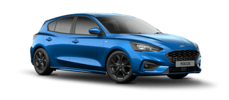 Blue Ford Focus St-Line