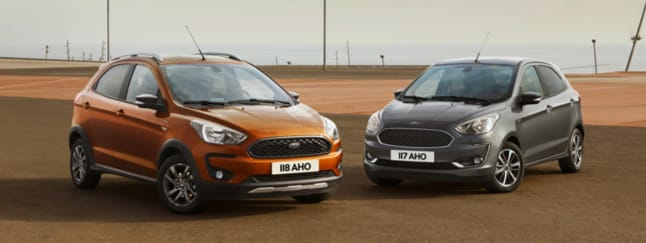 Ford Ka+ Active and Zetec parke