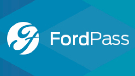FordPass with blue background pattern.