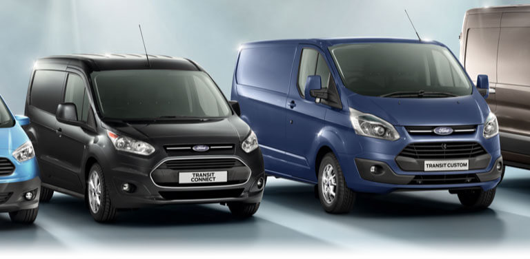 Ford Transit range of vans