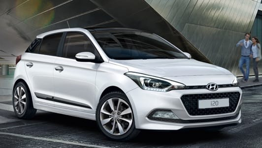 White Hyundai i20 available on finance