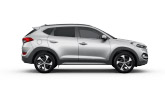 Silver Hyundai Tucson Parked Infront Of Sunset