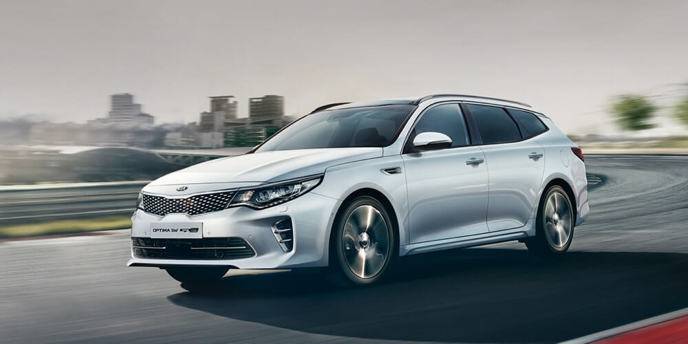 Kia Optima driving