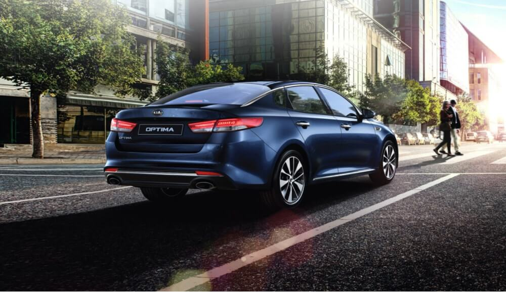 Blue Kia Optima