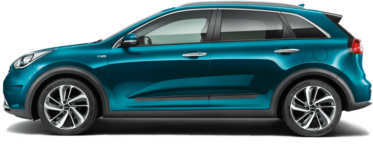 Rear of blue Kia Niro