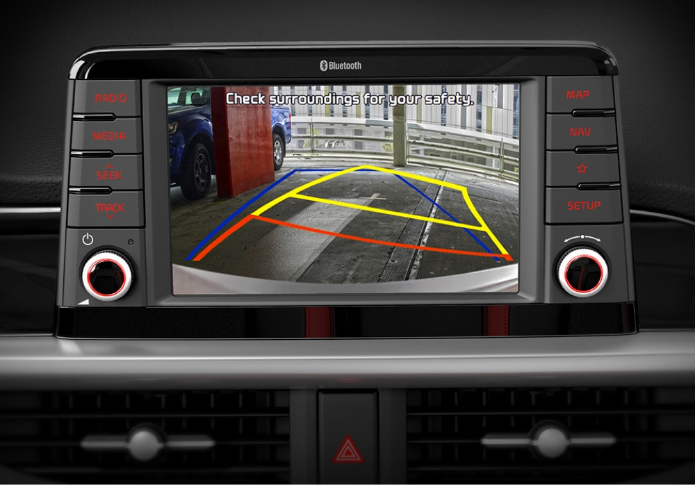 Reversing camera in the all-new Kia Picanto