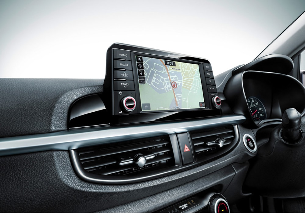 7 inch touch screen in the all-new Kia Picanto