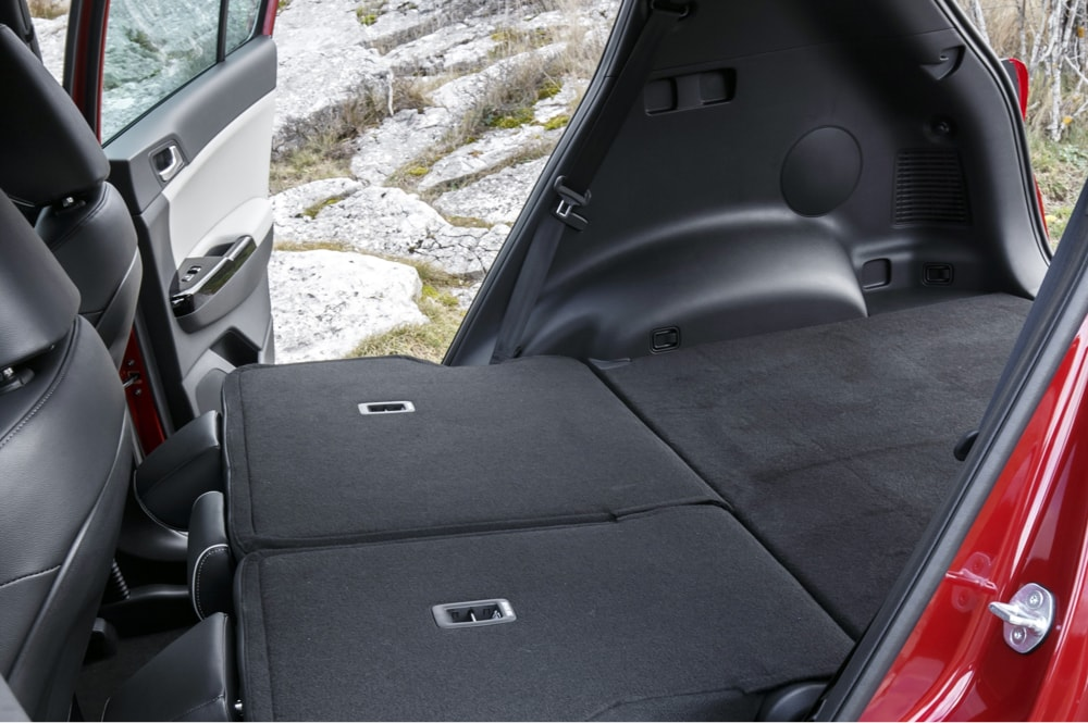 Seats down in rear of Kia Sportage