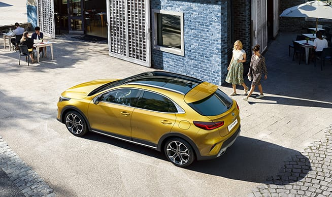 Yellow Kia XCeed