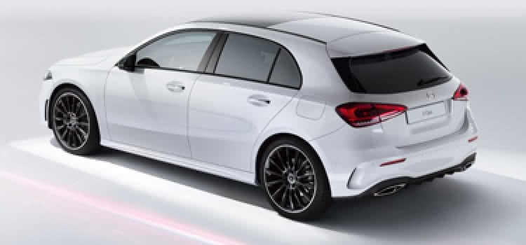 Mercedes-Benz A-Class in white studio
