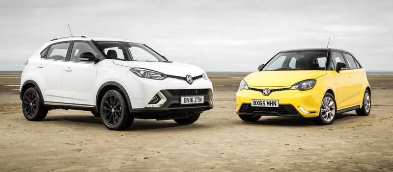 MG GS and MG3 on the beach