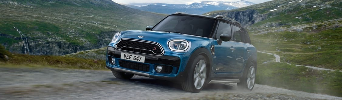 MINI Countryman driving along country road