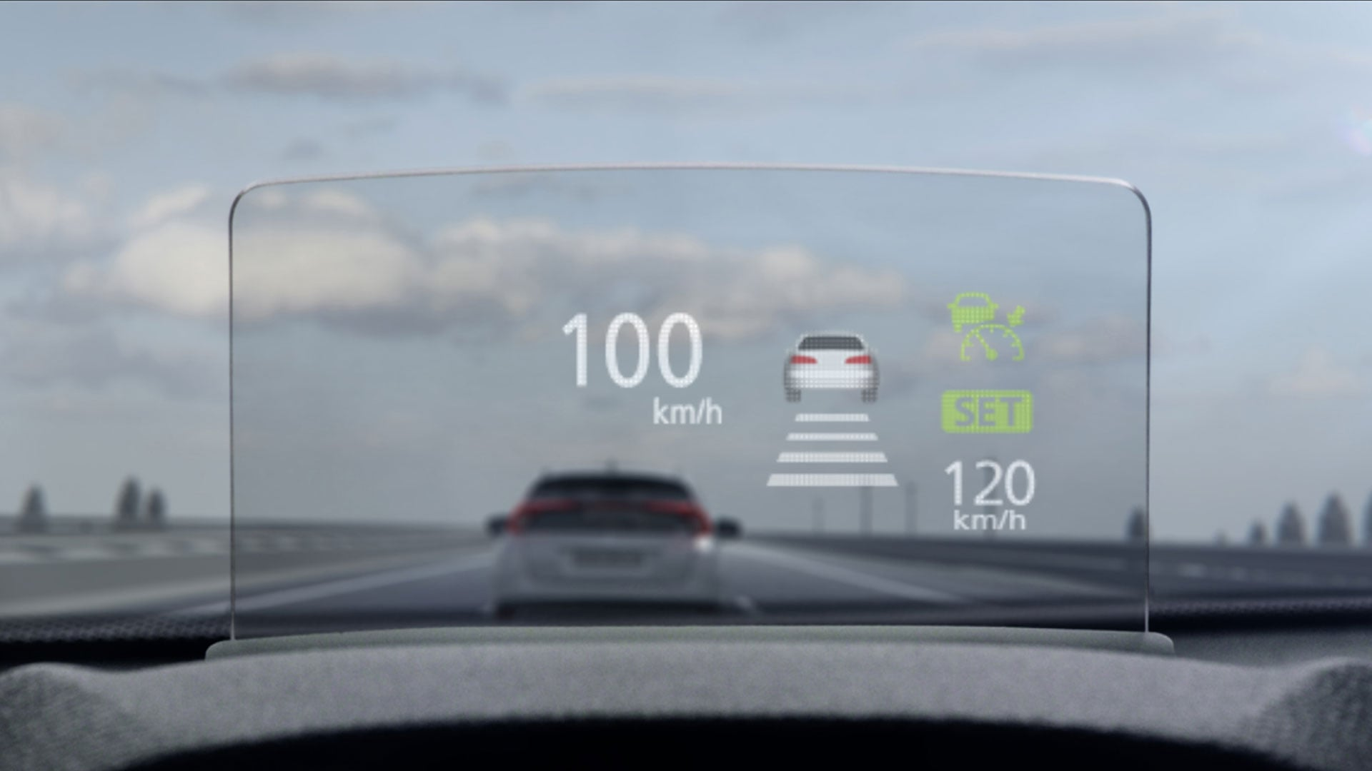 Eclipse Cross heads-up display