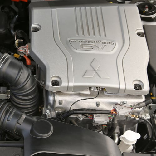 Outlander PHEV engine close-up