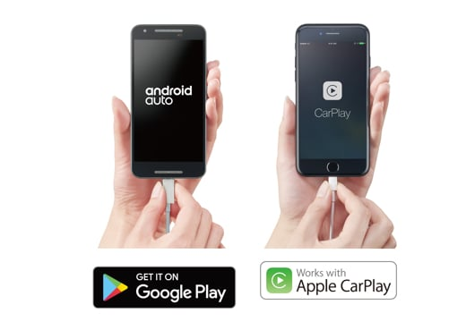 Google Play and Apple CarPlay image