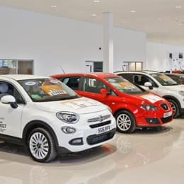 Thumbnail image of all the cars on display, showing the full showroom