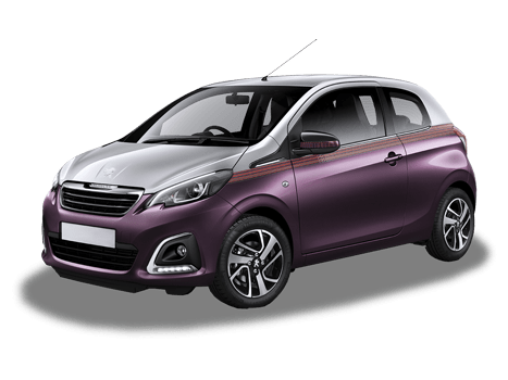 Peugeot 108 purple and silver edition