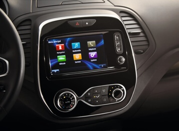 Crisp and colourful 7-inch touchscreen.