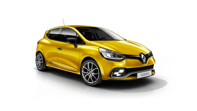 Yellow Renault Clio Renault Sport