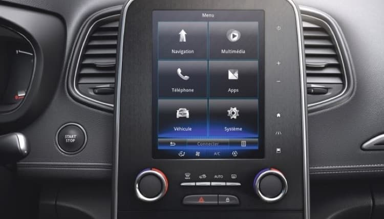 Renault Scenic infotainment system