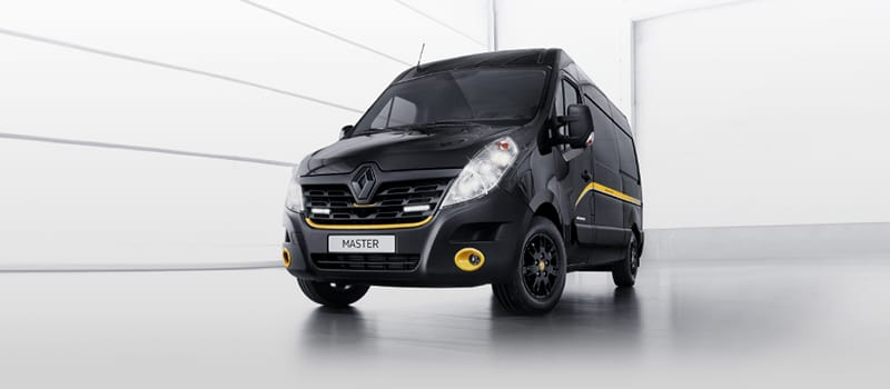 Renault Trafic Formula Edition in black and yellow.