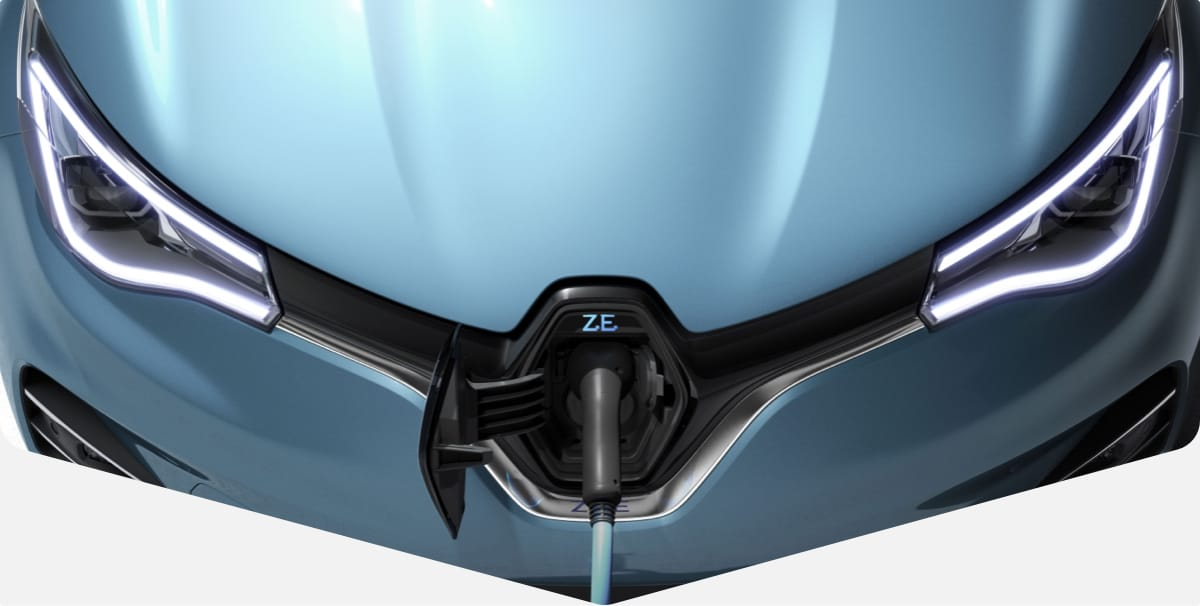 Outside view of the Renault Zoe headlights