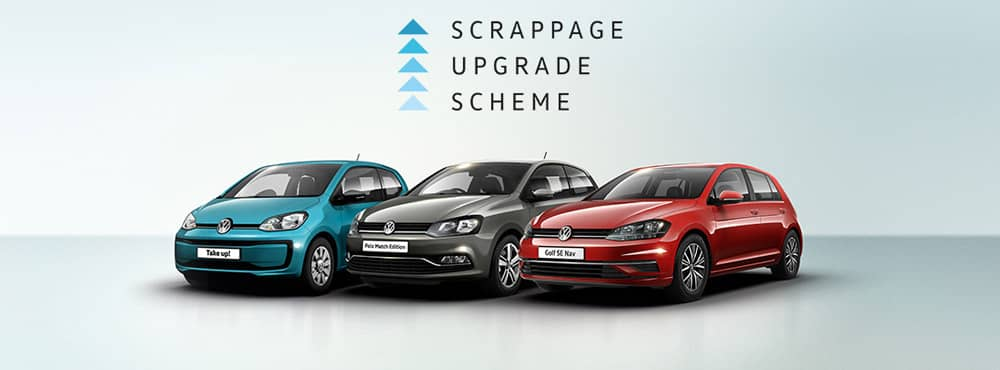 Volkswagen up!, Polo and Golf lined up together.