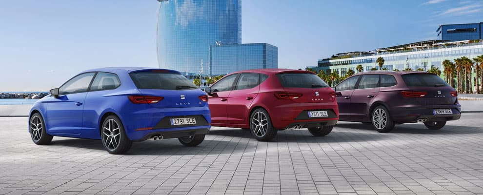 SEAT Leon range in the city.