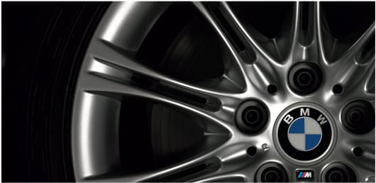 Close up of an alloy wheel of a BWM