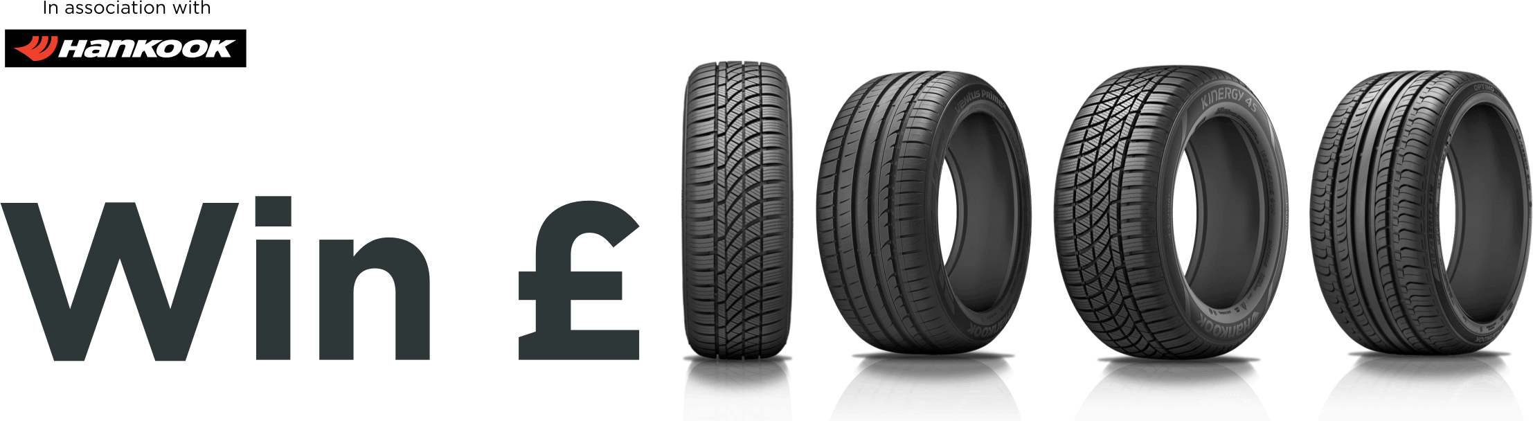 Buy a Hankook tyre, win a thousand pounds