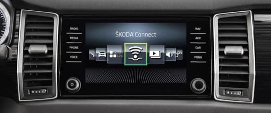 The kodiaq infotainment system