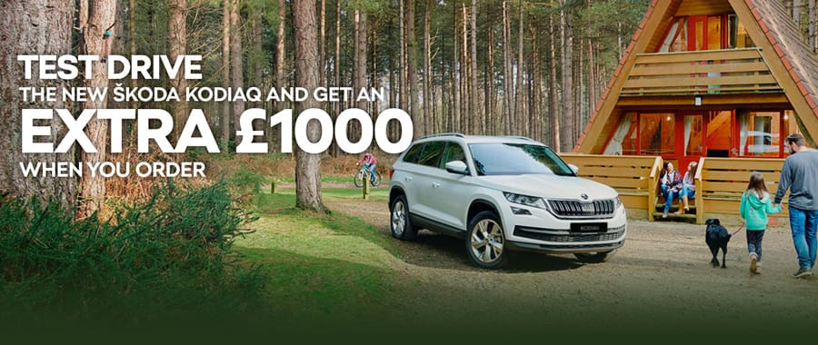 Test drive the new ŠKODA Kodiaq and save £500 when you order.