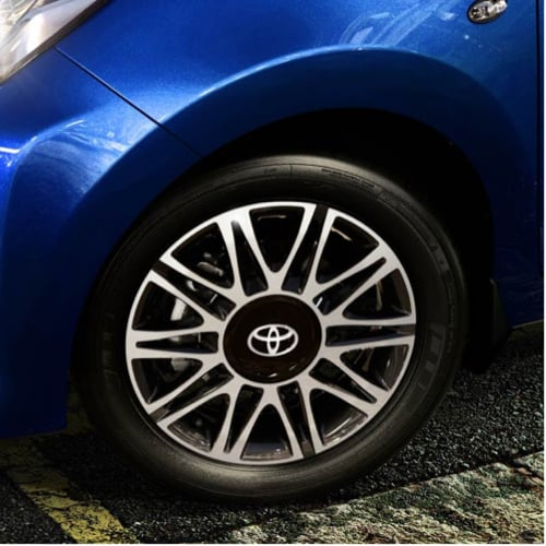 Aygo alloy wheel close-up