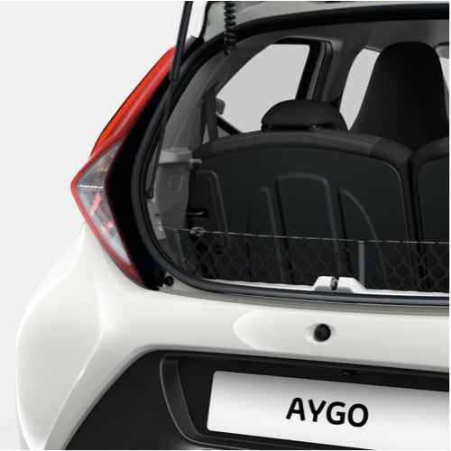 Aygo rear tail light with boot open