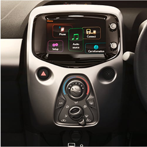 Close-up of Aygo center console